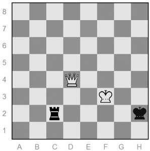 chess endgame - Philidor queen-vs-rook