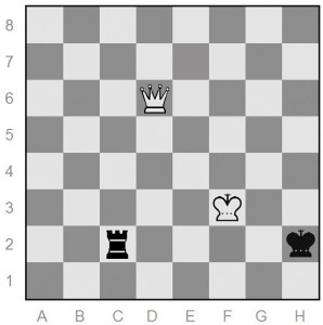 Black must give up the rook or be checkmated