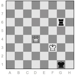 Black cannot move Kf1 because of mate