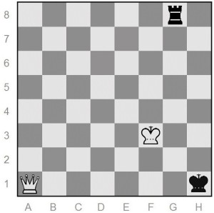 chess position after queen moves to a1