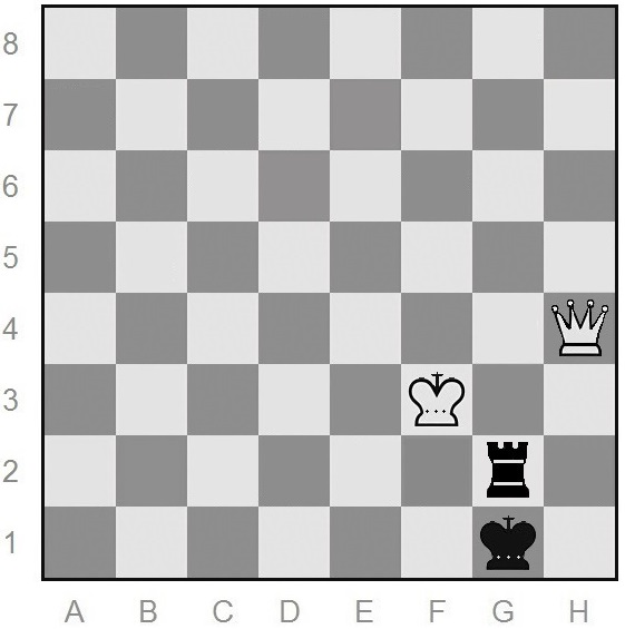queen-vs-rook endgame of chess