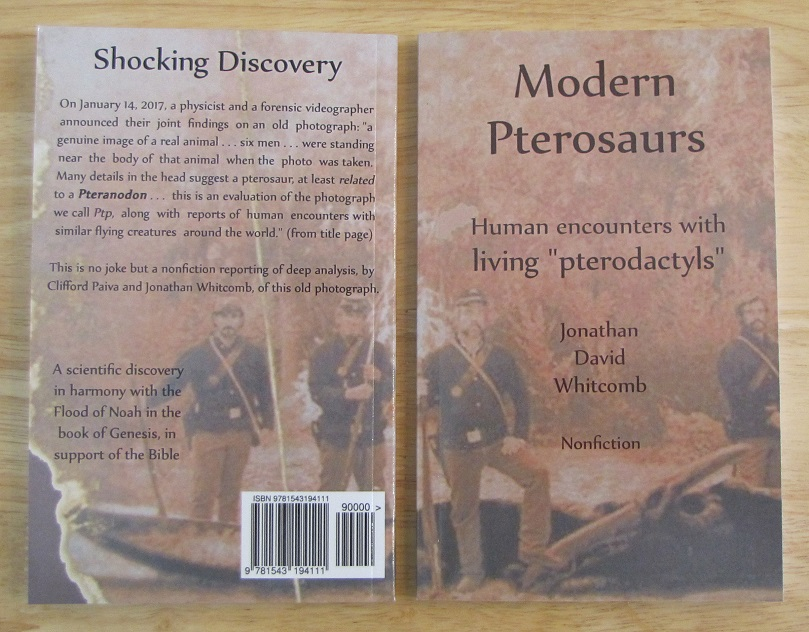 non-fiction cryptozoology book about a photo of a real modern pterosaur
